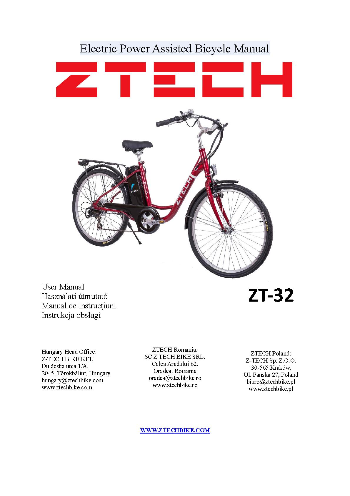ZT-32 electric bicycle userguide.pdf   PDF Host