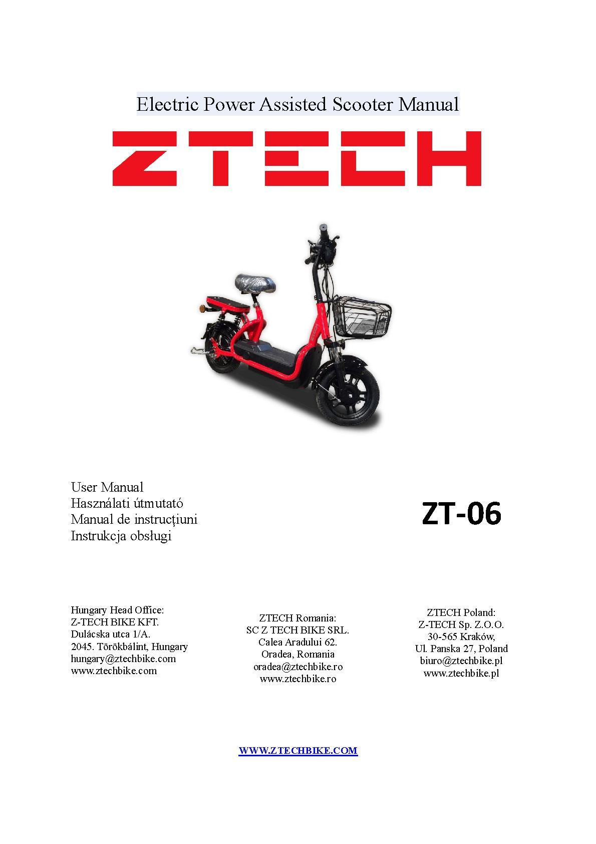 ZTECH ZT-06 Owner's Manual   PDF Host
