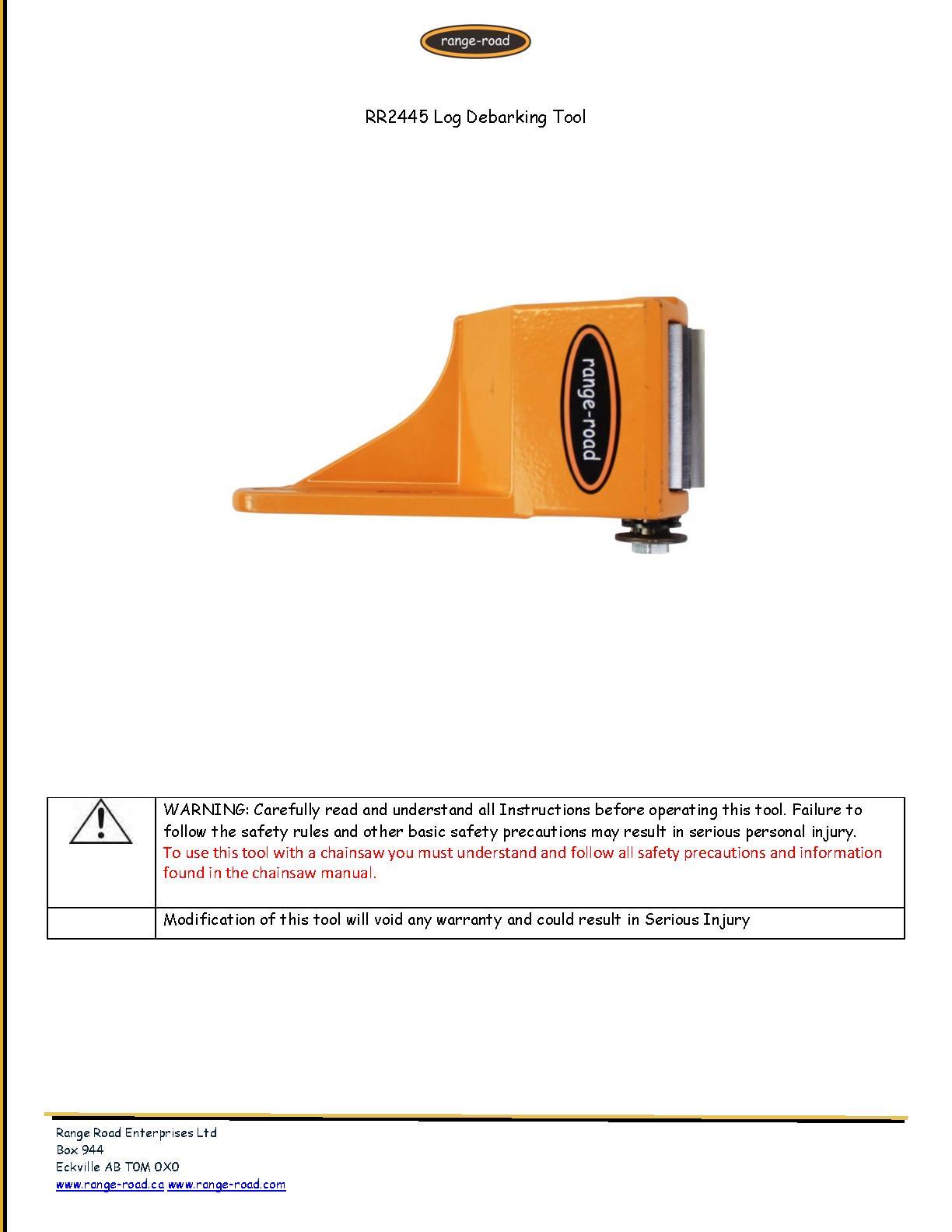 RR2445 Log Debarker Instructions.pdf   PDF Host